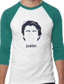 Justin Trudeau (Hirsute History) Men's Baseball ¾ T-Shirt