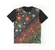 Green Red Thousand Flowers Graphic T-Shirt