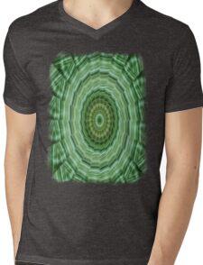 Green Stripes Kaleidoscope 11 Mens V-Neck T-Shirt