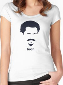Leon Trotsky (Hirsute History) Women's Fitted Scoop T-Shirt