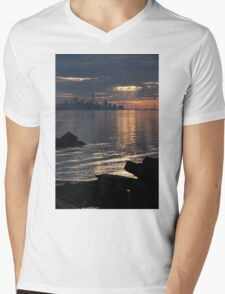Good Morning, Toronto - the Skyline From Across Humber Bay Mens V-Neck T-Shirt