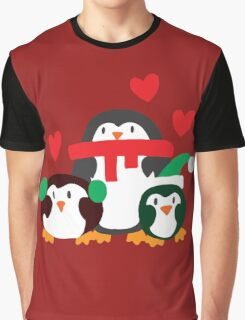 Winter Penguins Graphic T-Shirt