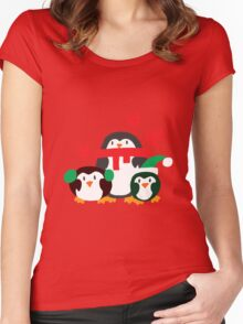 Winter Penguins Women's Fitted Scoop T-Shirt