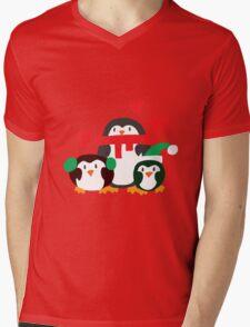 Winter Penguins Mens V-Neck T-Shirt