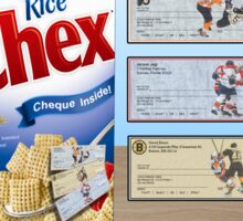 Czechs Checking on Cheques Now In Every Box of Chex! Sticker