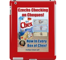 Czechs Checking on Cheques Now In Every Box of Chex! iPad Case/Skin