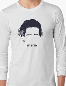 Marie Curie (Hirsute History) Long Sleeve T-Shirt