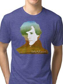 BBC Sherlock Holmes Watercolor Art Tri-blend T-Shirt