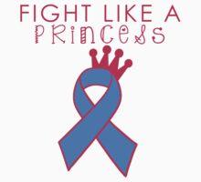 Fight Like A Princess - Blue Kids Tee