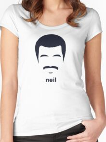 Neil Degrasse Tyson (Hirsute History) Women's Fitted Scoop T-Shirt
