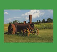 Antique And Rusty - a Vintage Iron Tractor on a Farm Baby Tee