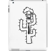 nerd geek smart hornbrille nerd ties funny face comic cartoon iPad Case/Skin