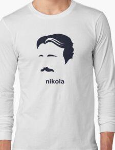 Nikola Tesla (Hirsute History) Long Sleeve T-Shirt