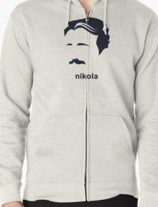 Nikola Tesla (Hirsute History) Zipped Hoodie