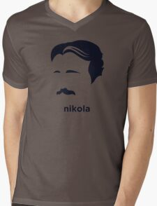 Nikola Tesla (Hirsute History) Mens V-Neck T-Shirt