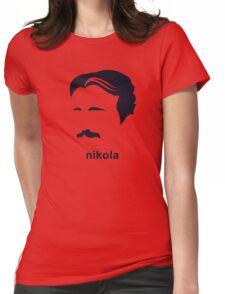 Nikola Tesla (Hirsute History) Womens Fitted T-Shirt