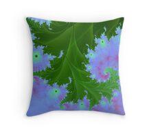 Fractal Fern Plant Throw Pillow