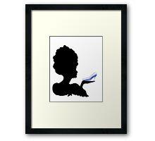 Cinderella Silhouette  Framed Print