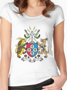 Denjuu World Coat of Arms Women's Fitted Scoop T-Shirt
