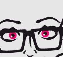 nerd geek hornbrille girl girl woman sexy hot pink bow female cactus Sticker