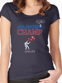 Karate Champ Retro Videogame Women's Fitted Scoop T-Shirt