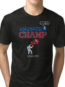Karate Champ Retro Videogame Tri-blend T-Shirt