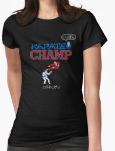 Karate Champ Retro Videogame Womens Fitted T-Shirt