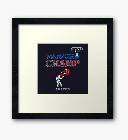 Karate Champ Retro Videogame Framed Print