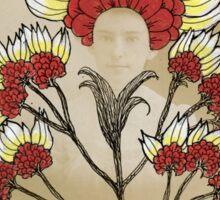 Red Flowers Bride Sticker