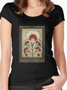 Red Flowers Bride Women's Fitted Scoop T-Shirt