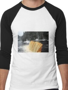 Wintry Upper Falls Men's Baseball ¾ T-Shirt