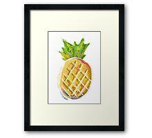 Pastel Pineapple Framed Print