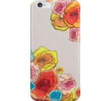 flower print grey iPhone Case/Skin