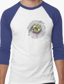 Passion Flower Men's Baseball ¾ T-Shirt