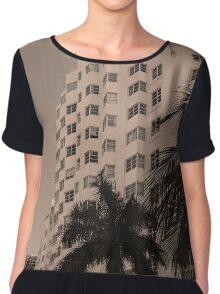 Miami Beach - Art Deco Chiffon Top