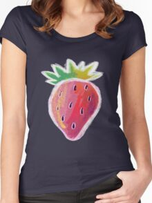 Pastel Strawberry Women's Fitted Scoop T-Shirt