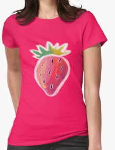 Pastel Strawberry Womens Fitted T-Shirt