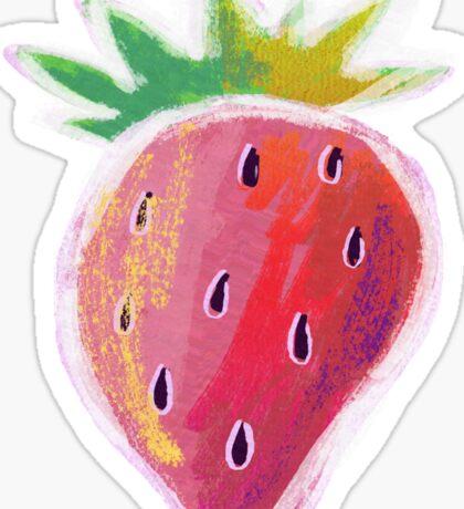 Pastel Strawberry Sticker