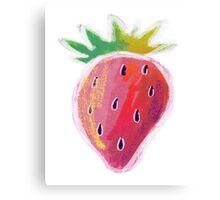 Pastel Strawberry Canvas Print
