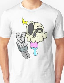 Skull with Robot Arm T-Shirt