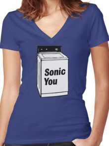 Sonic You Couples Shirt #1 Women's Fitted V-Neck T-Shirt