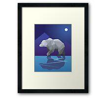 Geometric Polar Bear Framed Print