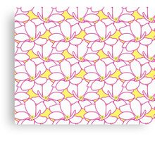 Takasaki Magnolia Full Bloom - Lemon & Pink Canvas Print