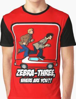 Zebra-Three, Where Are You? Graphic T-Shirt