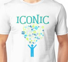 Iconic Techie Technology Icons Vector Illustration Unisex T-Shirt