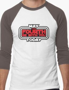 May the Fourth Be With You Today Men's Baseball ¾ T-Shirt