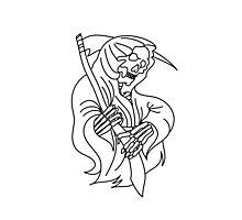 Grim Reaper Tattoo Art Photographic Print