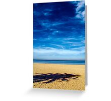 Solitude on empty beach Greeting Card