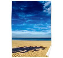 Solitude on empty beach Poster