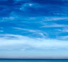 Solitude on empty beach Sticker